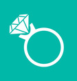 Ring icon isolated on background vector image
