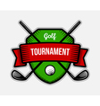 Golf sport tournament logo vector image vector image