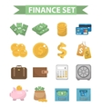 Money and Finance icons modern flat style vector image