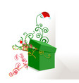 Green box ornate vector image