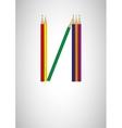 Pencil Crayon Poster - vector image vector image