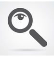 magnifier glass and eye icon vector image vector image