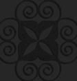 Black textured plastic big swirly hearts vector image
