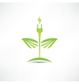 Eco green energy icon vector image