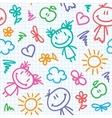 Hand drawn kid pattern vector image