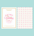happy valentines day typography greeting card vector image