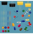 office supplies set vector image