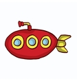 Red submarine cartoon collection stock vector image