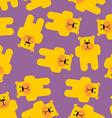 Yellow bear Mamey seamless pattern Yellow bear in vector image