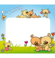 cute teddy bear in love design - vector image