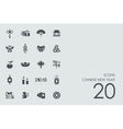 Set of Chinese New Year icons vector image