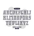 Rectangular serif font in urban style vector image