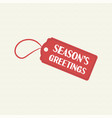 merry christmas sale tag quote text vector image