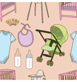 Seamless of Baby accessories vector image vector image