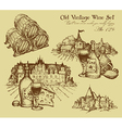 Vintage wine set vector image