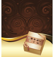 Brown Background with Chocolate Box3 vector image vector image