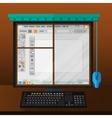 computer monitor like window vector image