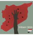 syrian crisis vector image