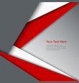 Abstract red white grey triangles background vector image
