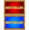 Bestseller logos vector image