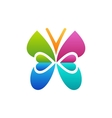butterfly logo beautiful spa concept symbol icon vector image