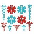 Caduceus as medical symbol vector image