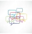 Chat box icon design vector image