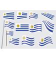 Flag of Uruguay vector image
