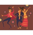 Hipsters retro party vector image