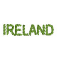ireland dlettring letters of clover irish vector image