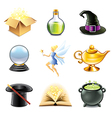 magic and sorcery icons vector image
