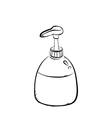 pump bottle vector image
