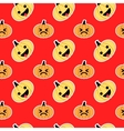 Red slanted Halloween pumpkin seamless pattern vector image