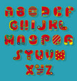 red superhero alphabet vector image