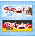 2016 Oktoberfest banner set vector image