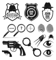 private detective set vector image
