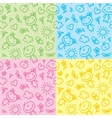 hand drawn kid patterns vector image