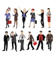 Set of full length portraits of business people vector image