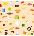 Breakfast food and drinks seamless pattern Good vector image