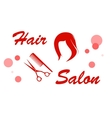 red hair salon signboard vector image
