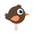 Cute cartoon brown bird vector image vector image