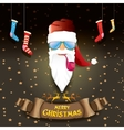 bad rockstar rock n roll dj santa claus vector image