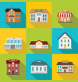 buildings flat style vector image
