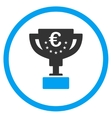 Euro Award Cup Rounded Icon vector image