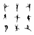 Girl dance icon symbol vector image