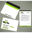 Identity design for logistic company vector image