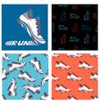 Running shoe designs vector image