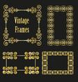 vintage golden frames collection vector image