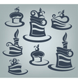cakes and sweets collection of delicious symbols vector image vector image