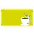 tea cup label vector image vector image